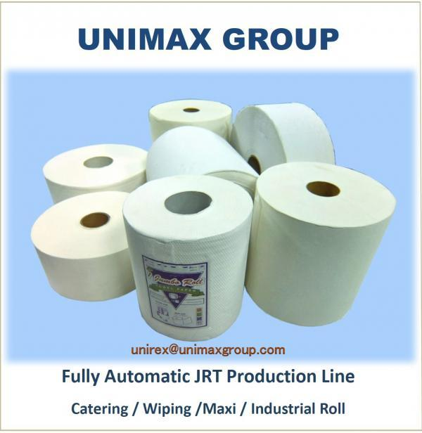 Fully Automatic Tissue Paper Maxi/Wiping/Industrial Rolls Production Line